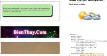 CSS3 - Text Shadow, Rounded Corners and Multiple Backgrounds