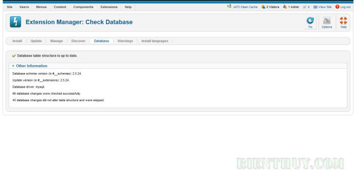 Joomla 2.5: Fix Refresh Manifest Cache failed: Extension is not currently installed