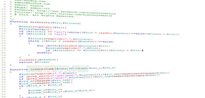 PHP thumbnail generator - PHP Creat Thumbnail