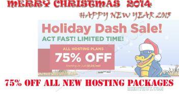 Giáng sinh sớm với khuyến mại 75% OFF từ Hostgator