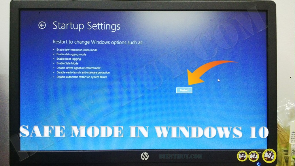 How to boot to Safe Mode in windows 10