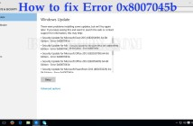 How to fix Error 0x8007045b
