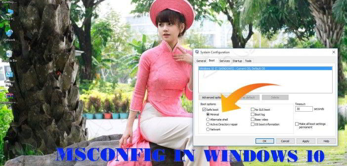 System Configuration Tool in Windows 10