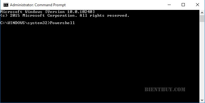 Open Windows PowerShell as Administrator