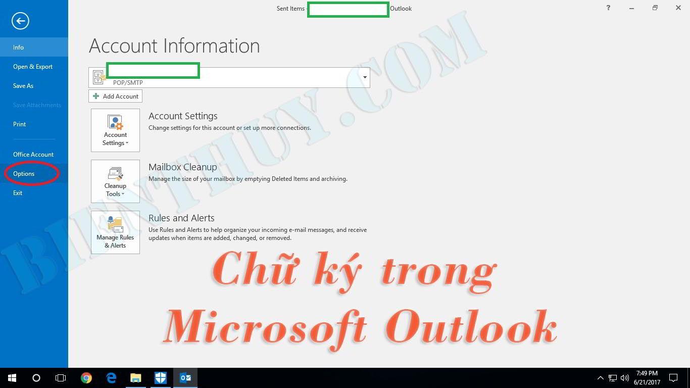 Hình 2: Tạo chữ ký trong Outlook