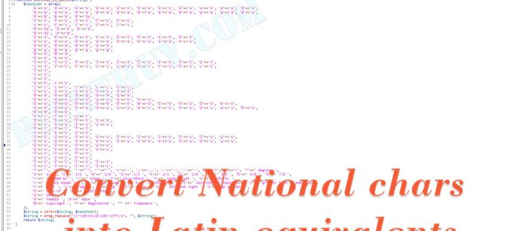 PHP convert accented characters to ascii