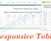 Responsive Tables Bootstrap Examples
