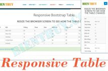 Responsive Bootstrap Table