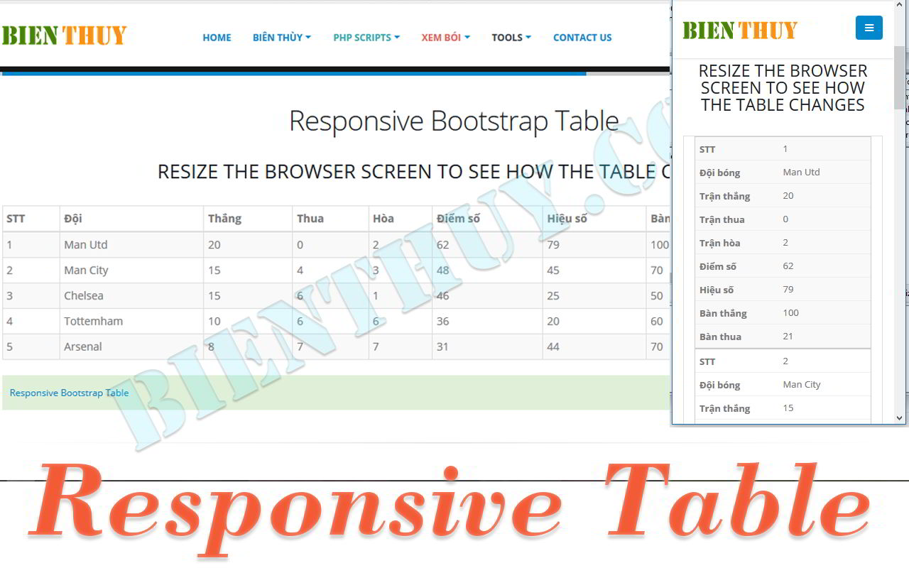 Responsive table with bootstrap css3 responsive table for Bootstrap table example