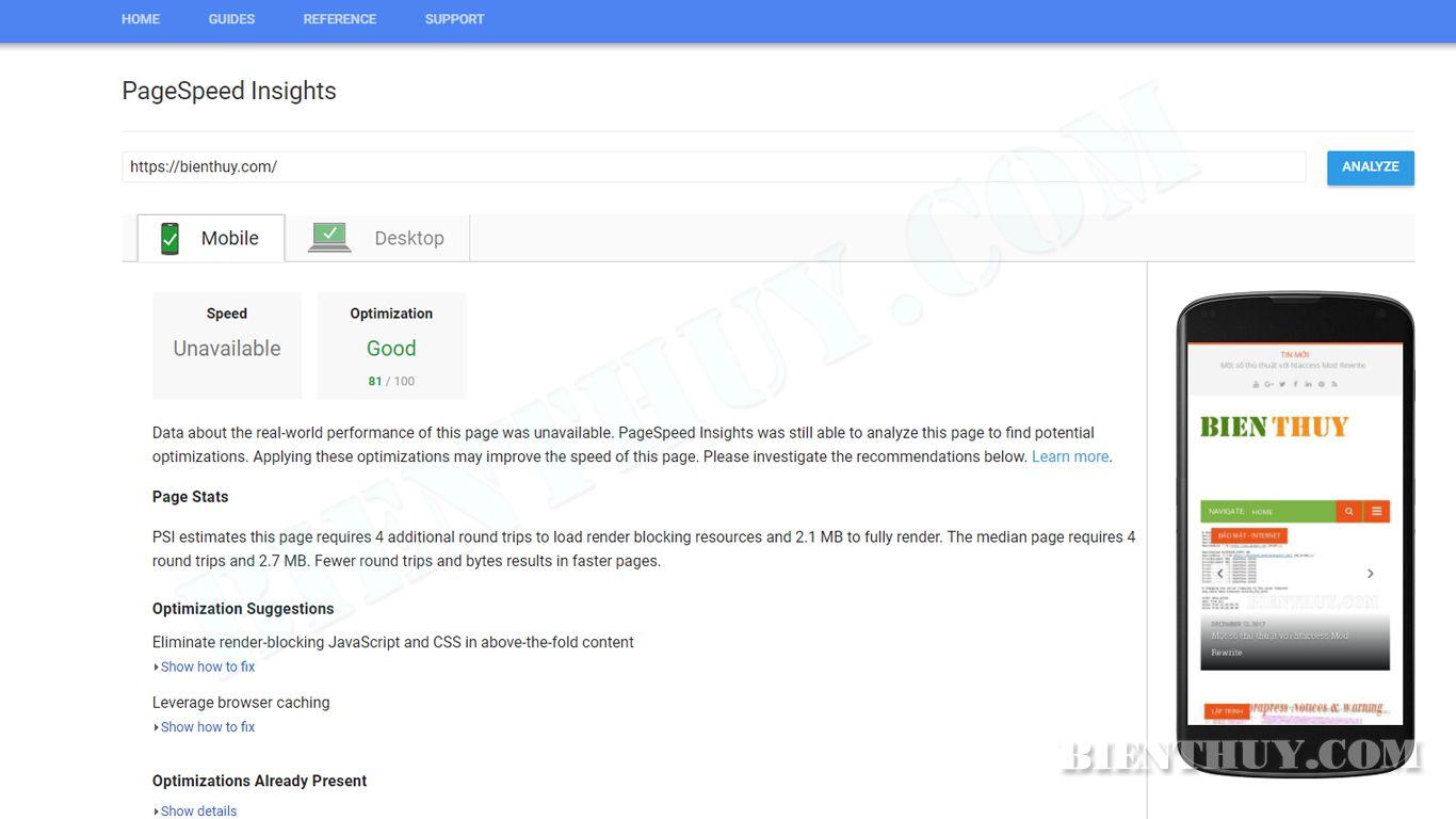 Google PageSpeed Insights sử dụng dữ liệu thực từ người dùng