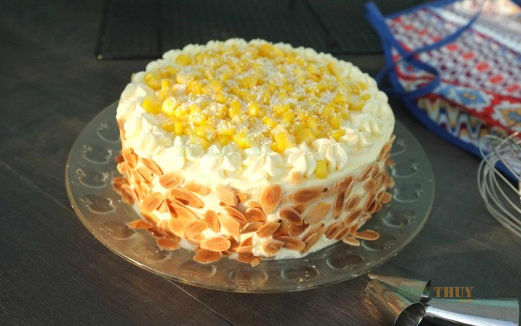 Bắp tạo hương thơm và vị bùi cho bánh