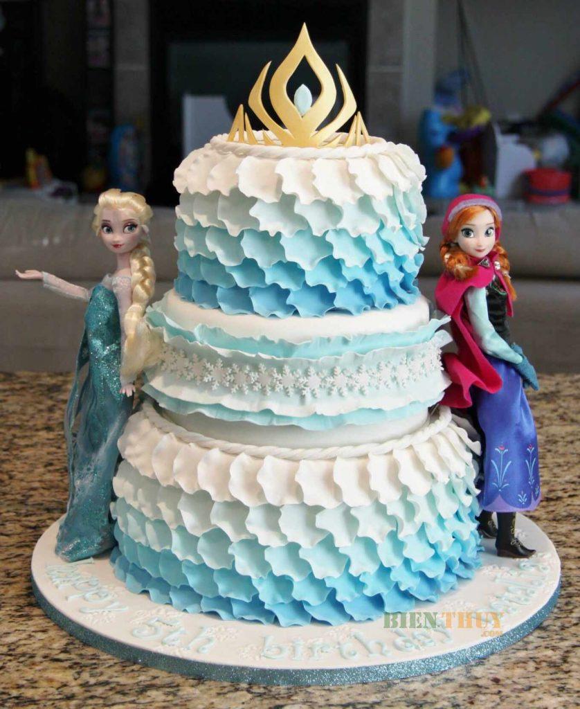 Frozen Anna - Elsa birthday cake