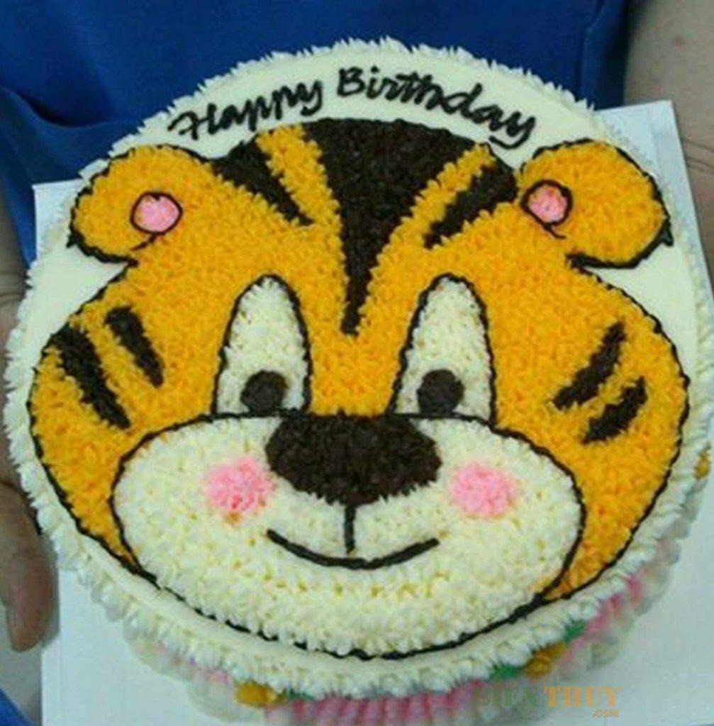 Bánh hình con vật cũng là một lựa chọn cho bé dịp sinh nhật