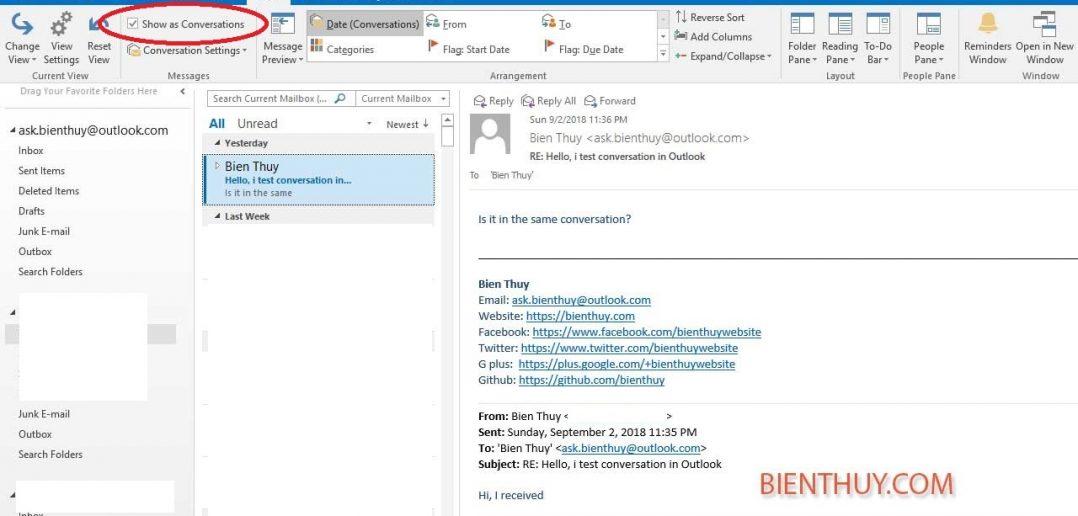 Gộp nhiều email cùng chủ để