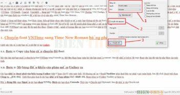 Phần mềm chuyển font VNTime sang Time New Roman