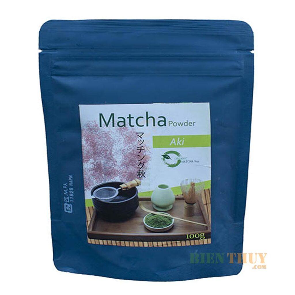 Bột trà xanh matcha Aki